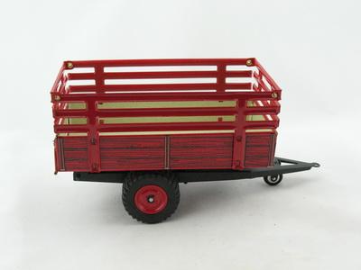 blechspielzeug traktor anh nger kipper mit gitteraufbau. Black Bedroom Furniture Sets. Home Design Ideas