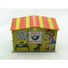 Blechspielzeug - Spardose Post Office Bank, Poststation
