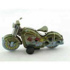 Blechspielzeug - Motorrad Harley klein, grün