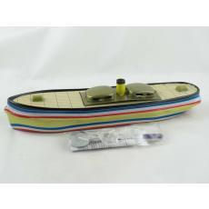 Blechspielzeug - Kerzenboot, Pop Pop Boat, Dampfboot Kanalschlepper