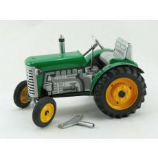 Traktor Zetor grün mit Metallfelgen, Neuheit 2019 von KOVAP – Blechspielzeug