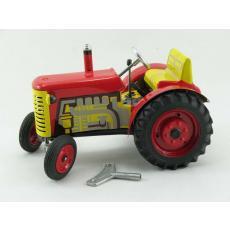 Traktor Zetor rot mit Metallfelgen, Neuheit 2019 von KOVAP – Blechspielzeug
