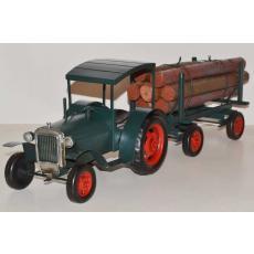 Blechmodell - Traktor-Gespann Hanomag mit Holzanhänger