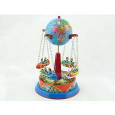 Blechspielzeug - Karussell Globus mit Gondeln an Ketten D