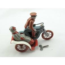 Blechspielzeug - Motorraddroschke