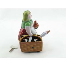 Blechspielzeug - Gänseliesel mit Korb
