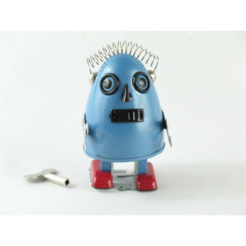 Blechspielzeug - Roboter EGG ROBOT, hellblau