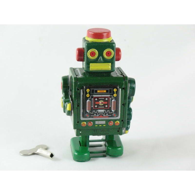 Blechspielzeug - Roboter grün