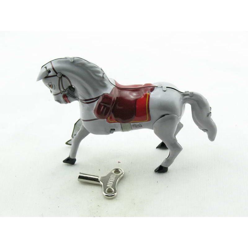 Blechspielzeug - Pferd aus Blech Schimmel