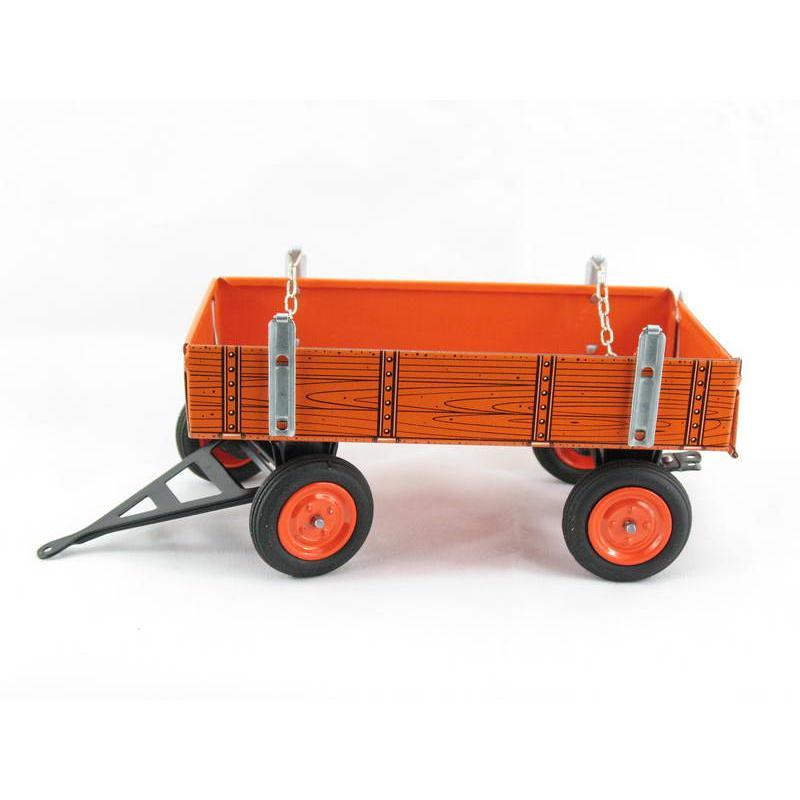 Traktor Anhänger orange, für Kubota Traktor, Neuheit 2019 von KOVAP – Blechspielzeug
