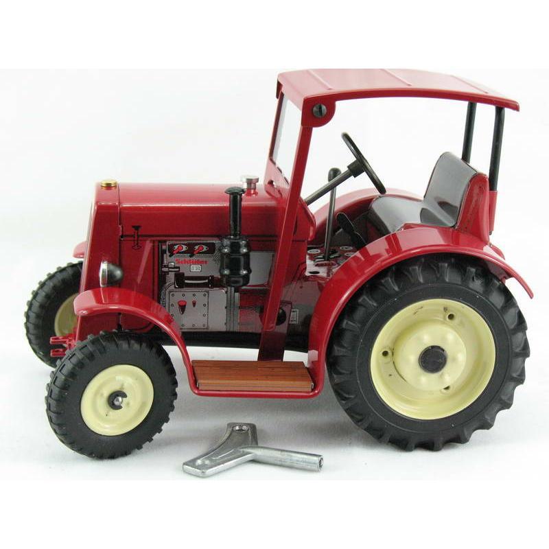 Traktor Schlüter DS 25 mit Dach, rot, Neuheit 2019 von KOVAP – Blechspielzeug