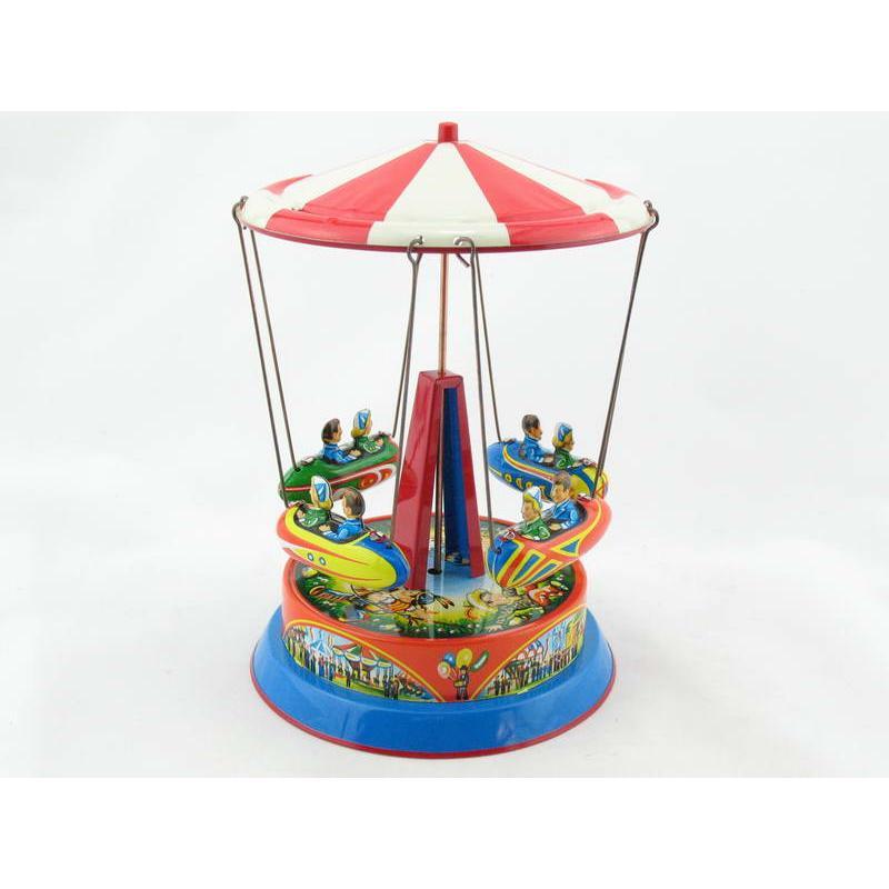 Blechspielzeug - Karussell mit Dach D