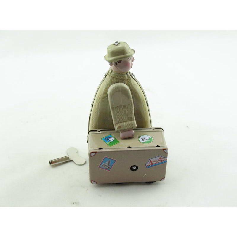 Blechspielzeug - Mann mit Koffer - Messemann mit Hut