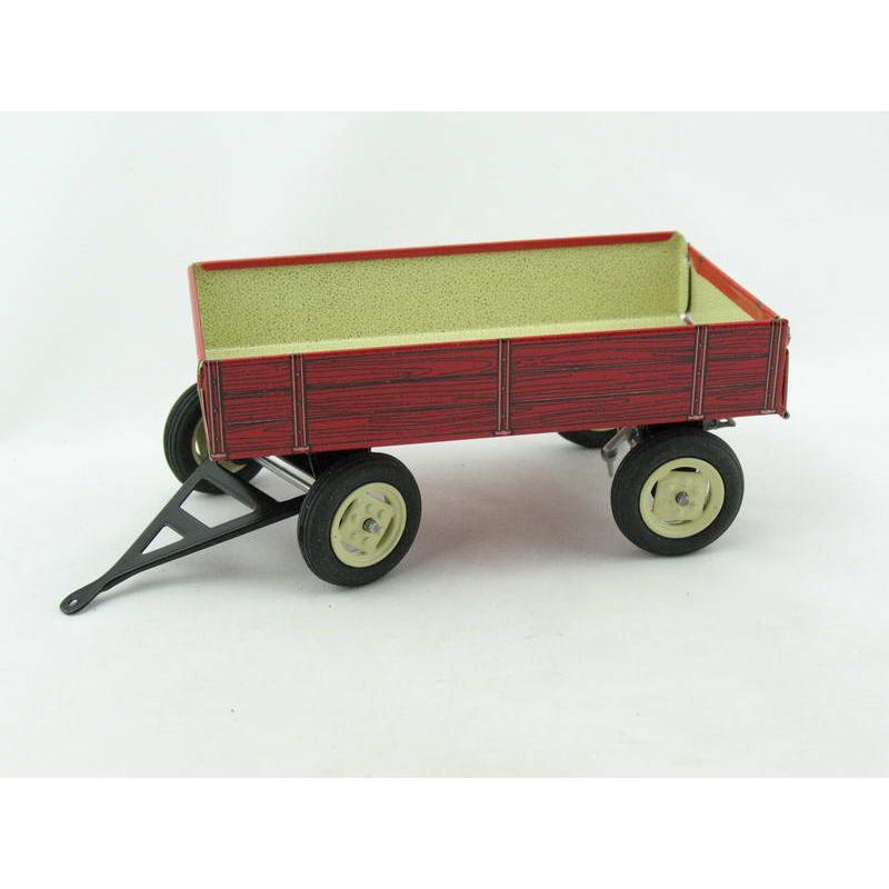 Traktor Anhänger rot von KOVAP - Blechspielzeug