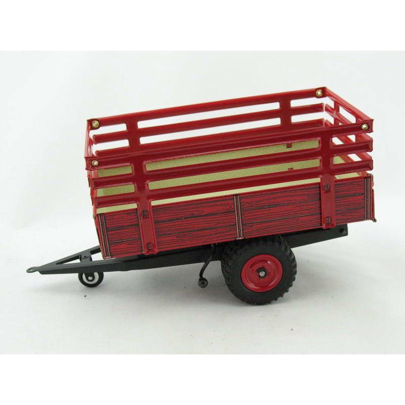 Traktor Anhänger Kipper mit Gitteraufbau von KOVAP - Blechspielzeug