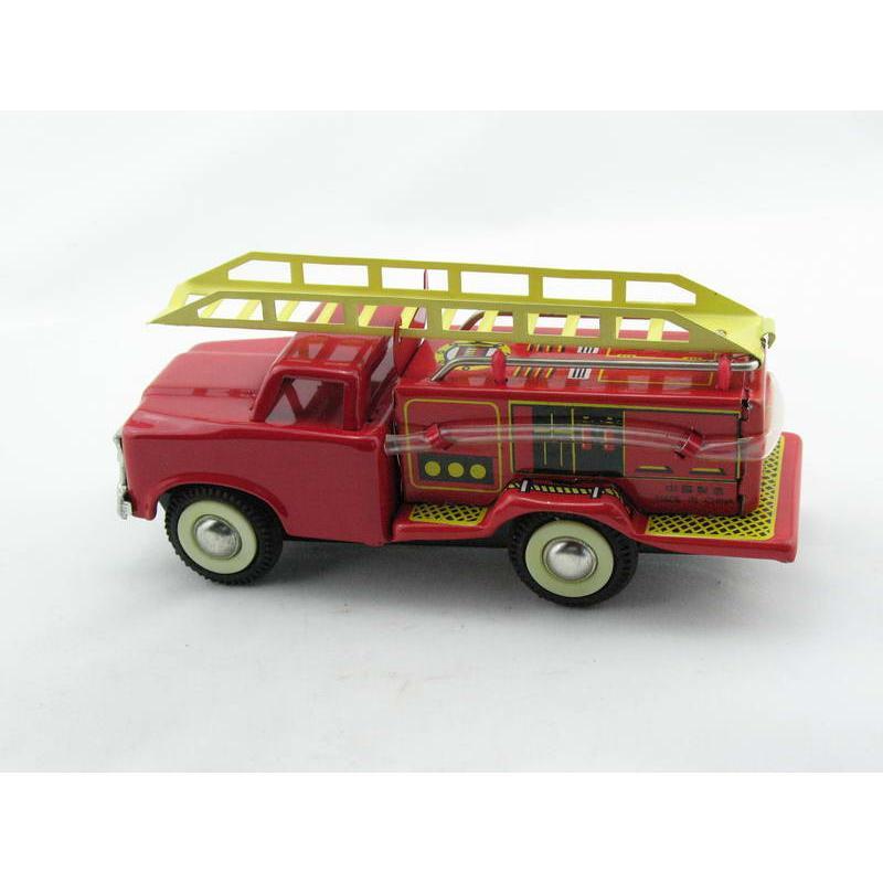 Blechspielzeug - Auto Feuerwehr klein, Leiterwagen